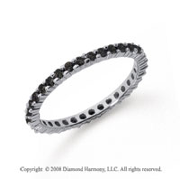 1/2 Carat Black Diamond Platinum Round Eternity Band