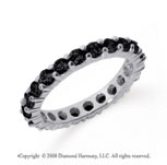 1 1/2 Carat Black Diamond Platinum Round Eternity Band