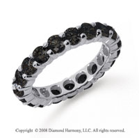 3 Carat Black Diamond Platinum Round Eternity Band