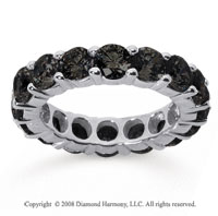5 Carat Black Diamond 18k White Gold Round Eternity Band