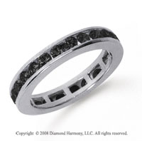 1/2 Carat Black Diamond Platinum Channel Eternity Band