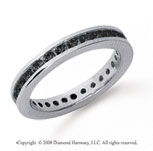 3/4 Carat Black Diamond Platinum Channel Eternity Band