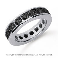 3 Carat Black Diamond Platinum Channel Eternity Band