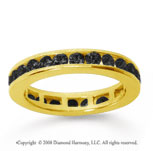 1/2 Carat Black Diamond 18k Yellow Gold Channel Eternity Band