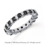 1 1/2 Carat Black Diamond Platinum Eternity Round Bar Band