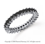 1 1/2  Carat Black Diamond Platinum Princess Eternity Band