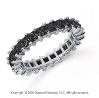 2 1/2  Carat Black Diamond Platinum Princess Eternity Band