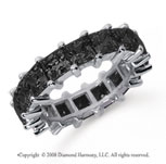 6 1/2  Carat Black Diamond Platinum Princess Eternity Band