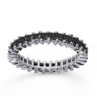1 1/4  Carat Black Diamond 14k White Gold Princess Eternity Band