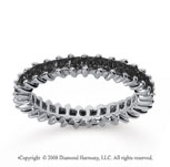 2  Carat Black Diamond 14k White Gold Princess Eternity Band