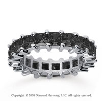 4 3/4  Carat Black Diamond 14k White Gold Princess Eternity Band