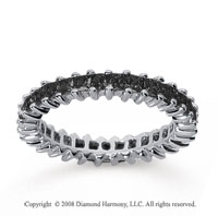 1 1/2  Carat Black Diamond 18k White Gold Princess Eternity Band