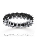 3 1/2  Carat Black Diamond 18k White Gold Princess Eternity Band