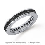 1 Carat Black Diamond Platinum Princess Channel Eternity Band