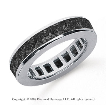 2 Carat Black Diamond Platinum Princess Channel Eternity Band
