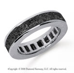 4 Carat Black Diamond Platinum Princess Channel Eternity Band