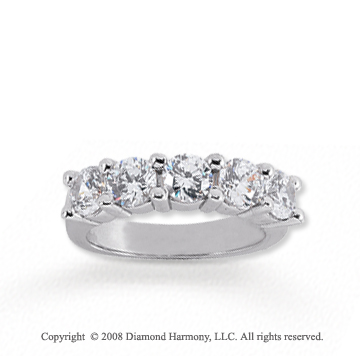 18k White Gold 5 Stone 2 Carat Diamond Anniversary Band