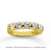 14k Yellow Gold 5 Stone 1 1/4 Carat Diamond Anniversary Band