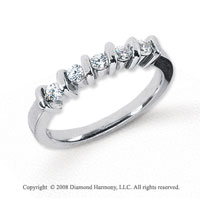 Platinum 5 Stone 1/4 Carat Diamond Anniversary Band