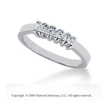 Palladium 5 Stone 1/3 Carat Diamond Anniversary Band