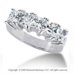 Palladium 5 Stone 2 1/2 Carat Diamond Anniversary Band