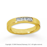 14k Yellow Gold 5 Stone 1/3 Carat Diamond Anniversary Band
