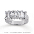 14k White Gold 5 Stone 5 Carat Diamond Anniversary Band
