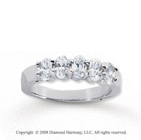 18k White Gold 5 Stone 1 1/2 Carat Diamond Anniversary Band