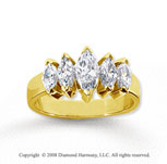 18k Yellow Gold 5 Stone 1 3/4 Carat Diamond Anniversary Band