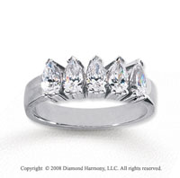 14k White Gold 5 Stone 1 Carat Diamond Anniversary Band