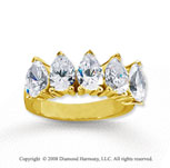 14k Yellow Gold 5 Stone 3 Carat Diamond Anniversary Band