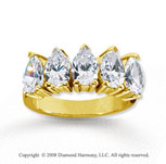 18k Yellow Gold 5 Stone 3 3/4 Carat Diamond Anniversary Band