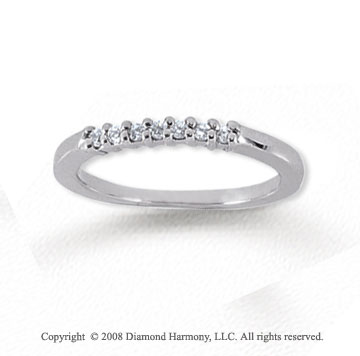 18k White Gold 7 Stone 1/10 Carat Diamond Anniversary Band