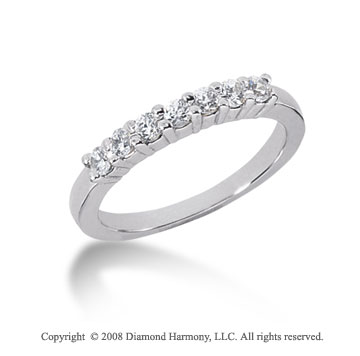 Platinum 7 Stone 1/3 Carat Diamond Anniversary Band