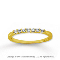 18k Yellow Gold 7 Stone 1/6 Carat Diamond Anniversary Band