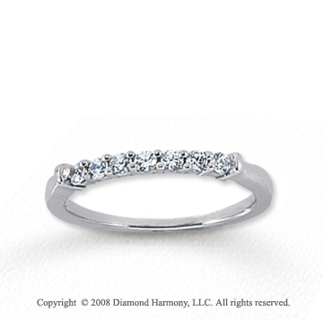 14k White Gold 7 Stone 1/4 Carat Diamond Anniversary Band