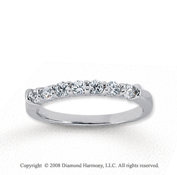 14k White Gold 7 Stone 1/3 Carat Diamond Anniversary Band