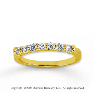 14k Yellow Gold 7 Stone 1/3 Carat Diamond Anniversary Band