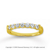 14k Yellow Gold 7 Stone 1/2 Carat Diamond Anniversary Band