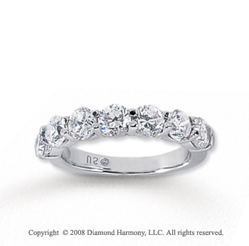 18k White Gold 7 Stone 2 Carat Diamond Anniversary Band