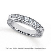 Palladium 7 Stone 1/3 Carat Diamond Anniversary Band