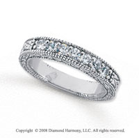 Palladium 7 Stone 1/2 Carat Diamond Anniversary Band