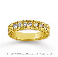 18k Yellow Gold 7 Stone 3/4 Carat Diamond Anniversary Band