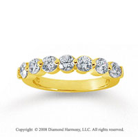 14k Yellow Gold 7 Stone 1 1/4 Carat Diamond Anniversary Band