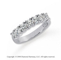Platinum 7 Stone 1 Carat Diamond Anniversary Band