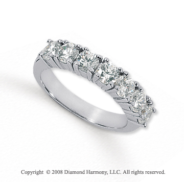 Palladium 7 Stone 1 1/2 Carat Diamond Anniversary Band