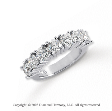 Platinum 7 Stone 2 1/2 Carat Diamond Anniversary Band
