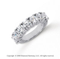 Platinum 7 Stone 3 Carat Diamond Anniversary Band
