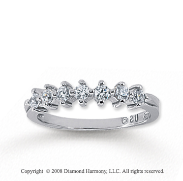 18k White Gold 7 Stone 1/2 Carat Diamond Anniversary Band
