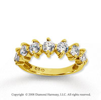 14k Yellow Gold 7 Stone 2 Carat Diamond Anniversary Band